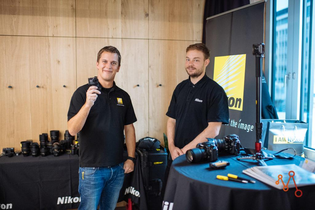Andreas und Jeremy von Nikon Schweiz